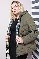 Женская двухстороняя куртка 48-64рр хаки