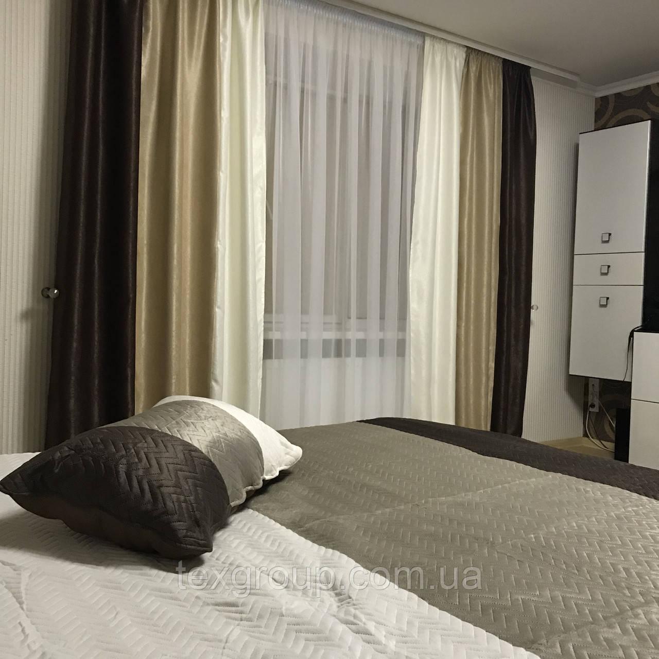 комплект для спальни шторыпокрывало 333 цена 1 189 грнкомплект
