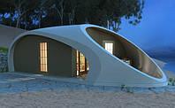 Предлагаем вашему вниманию проект пляжного домика с открытой верандой. Прихожая-гостинная 14,2 м. кв. Спальня 12,8 м. кв. Санузел 3,4 м. кв. Веранда 19 м. кв. Общая площадь 49,4 м. кв.