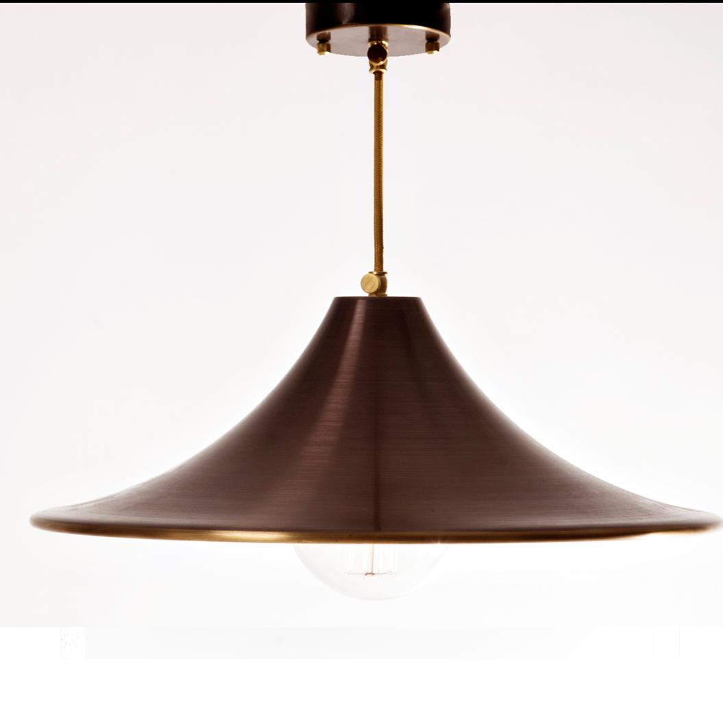 Лампа Подвесная Латунь Коричневая