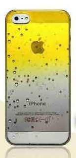 Чехол с каплями желтый для Iphone 4/4S