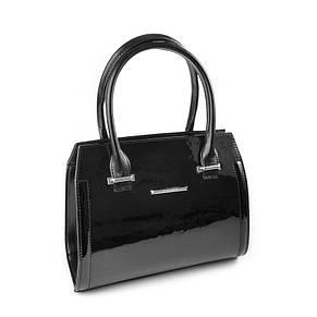 Женская черная стильная лаковая сумка М68-лак /Z, фото 2