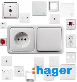 Hager розетки и выключатели