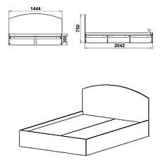 Кровать КРОВАТЬ-140, фото 2