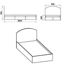 Кровать КРОВАТЬ-90, фото 2
