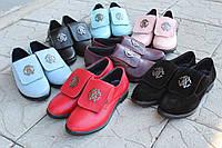 Женские Кожаные туфли на маленьком каблучке Roberto Cavalli