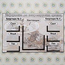 Табличка для показаний счётчиков на две квартиры