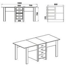 Стол книжка СТОЛ-КНИЖКА-3, фото 2