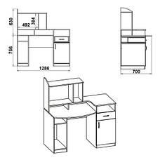 Стол компьютерный КОМФОРТ-2, фото 2