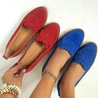 Женские туфли-лоферы Италия натуральная кожа/замша