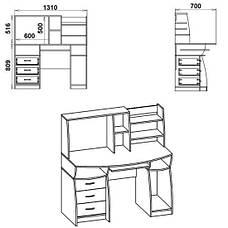 Стол компьютерный КОМФОРТ-3, фото 2