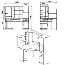 Стол компьютерный СУ-12, фото 2