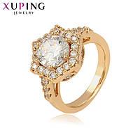 Женское кольцо с позолотой и фианитами, ювелирная бижутерия xuping