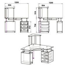 Стол компьютерный СУ-6, фото 2
