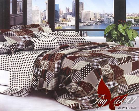 Семейный комплект постельного белья в Клетку, Поликоттон, фото 2