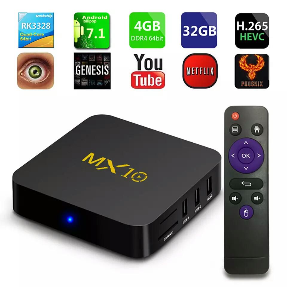 TV Box Smart TV MX10 4\32 Gb DDR4 And 7.1.2