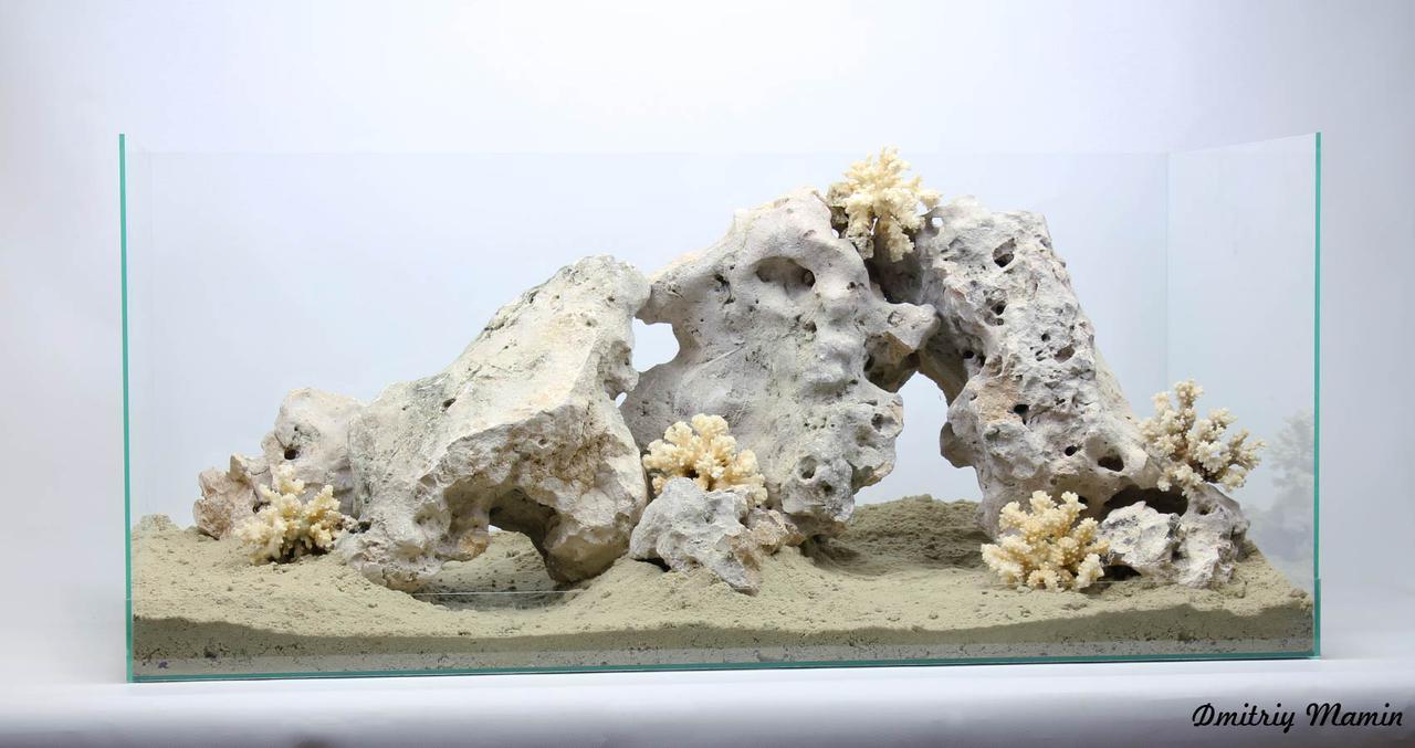 Композиция для цихлидника из Кенийского камня