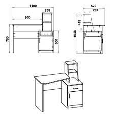 Стол письменный ШКОЛЬНИК-3, фото 2