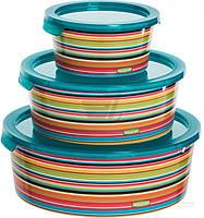 Набор контейнеров для пищевых продуктов Deco Chef полоски 3 шт Curver