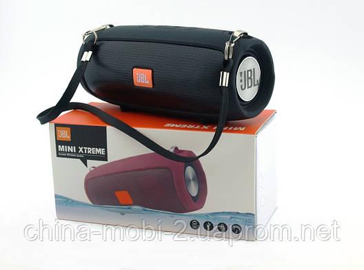 JBL XTREME mini J011 6W копія, блютуз колонка з FM MP3, чорна, фото 2
