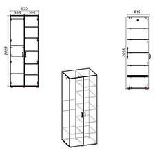 Шкаф для спальни ШКАФ-18, фото 2