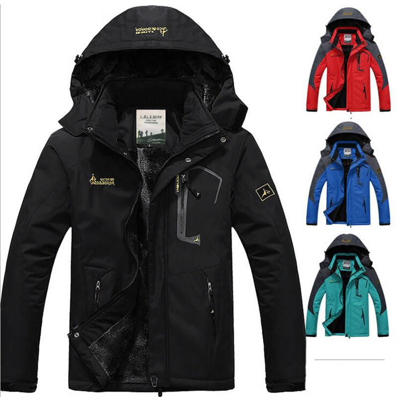 Парку Вітро-Вологозахисна зимова чоловіча куртка L-6XL