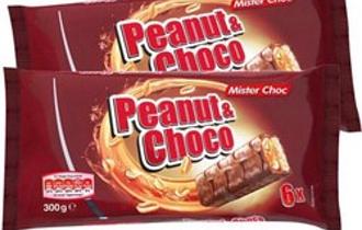 Батончик MISTER CHOC  Peanut& Choco с орехами 6*50г