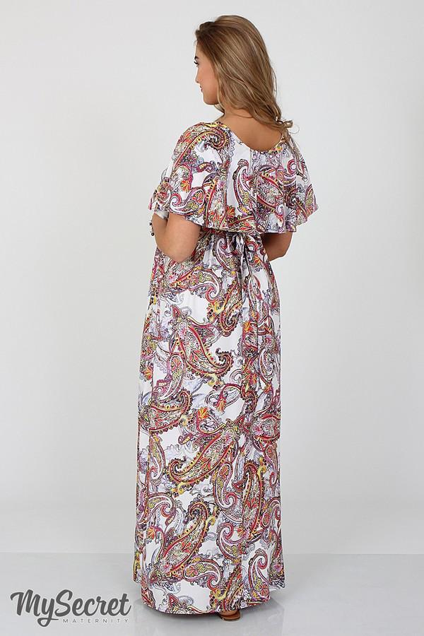 a1fbf29abb51 Платье летнее в пол для беременных и кормления Парадиз