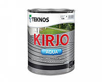 """Эмаль акриловая TEKNOS KIRJO AQUA для крыш и листового металла """"белая"""" (тонируется) 0,9 л"""