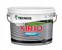 """Эмаль акриловая TEKNOS KIRJO AQUA для крыш и листового металла """"белая"""" (тонируется) 2,7 л"""