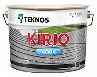 """Эмаль акриловая TEKNOS KIRJO AQUA для крыш и листового металла """"белая"""" (тонируется) 9 л"""