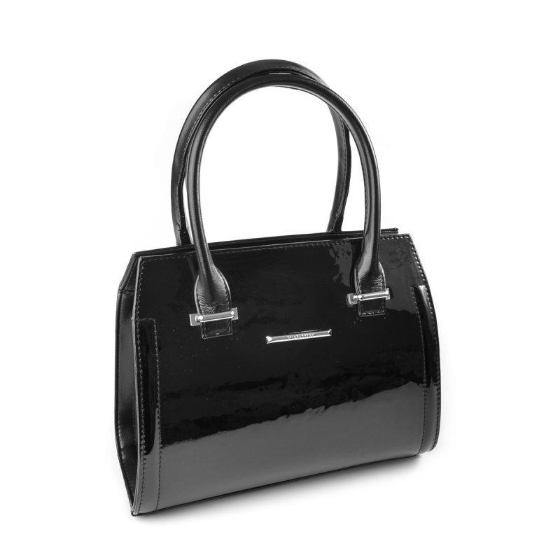 d0753ad66f35 Черная лаковая сумка саквояж М68-лак /Z небольшого размера: продажа ...