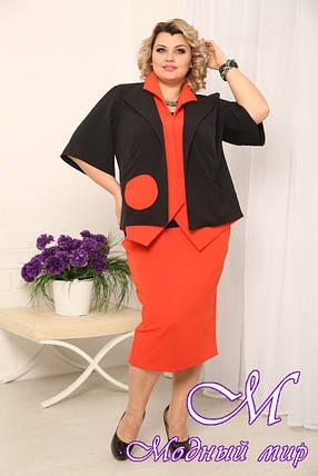 Женская красная юбка батал (р. 48-90) арт. Леля, фото 2