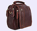 Мужская кожаная сумка Dovhani Dov-673-1 Коричневая , фото 2