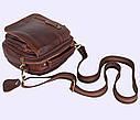 Мужская кожаная сумка Dovhani Dov-673-1 Коричневая , фото 5