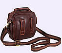 Мужская кожаная сумка Dovhani Dov-673-1 Коричневая , фото 6