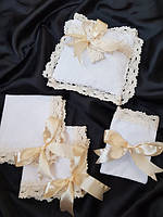 Аксессуары для крещения (подушечки, мешочки для локона, платочки под свечи )