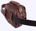 Мужская кожаная сумка Dovhani Dov-673-1 Коричневая , фото 8