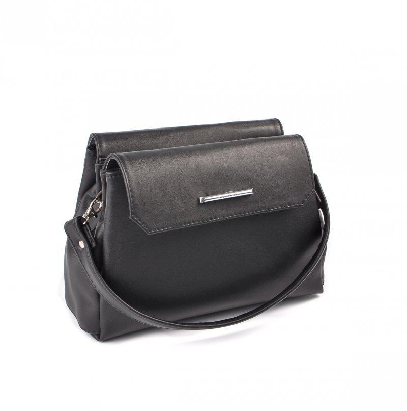 9435e7d9ae5c Черная маленькая сумка М126-48 матовая модная кроссбоди через плечо, фото 1