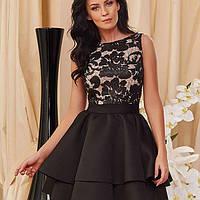 Платье вечернее с двойной юбкой