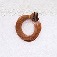 Волосы для кукол легкая волна, светлый янтарь - 20 см