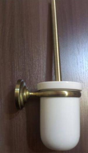 Ершик вантуз для унитаза настенный (подвесной) бронза 0522