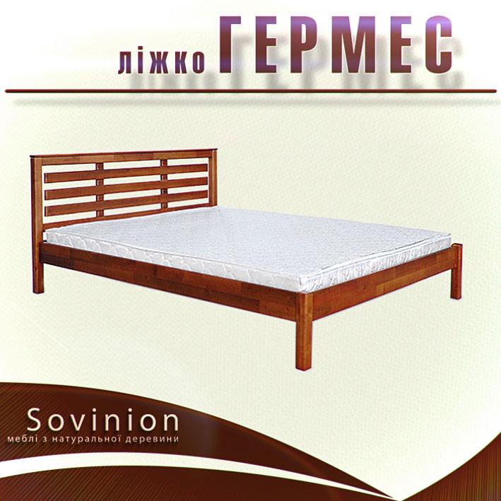 Ліжко двоспальне з натурального дерева в спальню Гермес 160*200 Sovinion