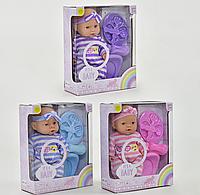 Музыкальная кукла-пупс 6114  3 вида с бутылочкой, тарелка, ложка, вилка, горшок, игрушка для девочек, пупс