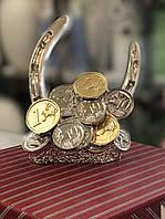 Статуэтка Подкова на удачу серебро