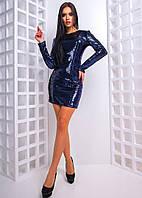 Женское модное платье-паетка (3 цвета), фото 1