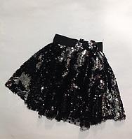 Детская нарядная юбка с поедками для девочек от 3-4 до 10-11 лет., фото 1
