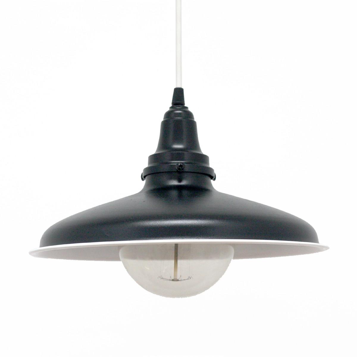 Лампа Подвесная Стальная, Белый, Диаметр-31.5см