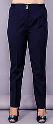 Жіночі класичні брюки Елія колір синий розмір 50 52 54 56 58 60 62 64 габардин