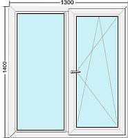 Металлопластиковое окно Steko S300 (энергосберегающее)